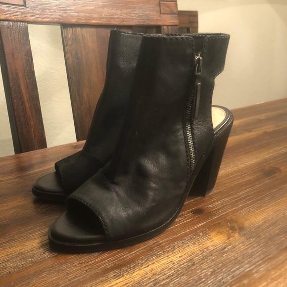 Black Peep Toe Booties Size